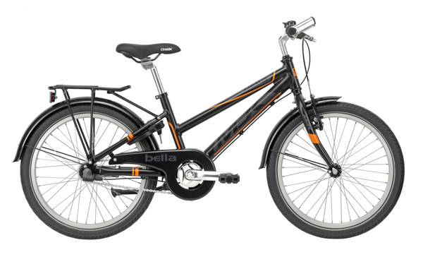 MBK Bella 20in Nexus 3g Coaster Mat Black/Orange 2016 Street Citybike