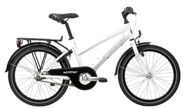 Winther 300 alu girl 20in 3 speed Shimano Coaster Shiny white/Light blue 2016