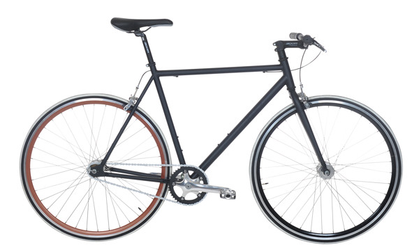 EBS FIXIE BASIC  SINGLESPEED  52  BLACK MAT 2016