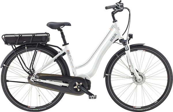 MBK 3.3 D Mat White 7RB Center display incl 500 Whrs batteri 2016  Citybike