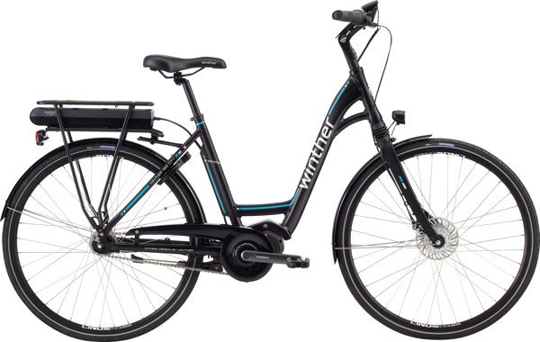 Winther 985 DAME 7 GEAR Sort Turkis/sølv 2017 Klassisk Citybike