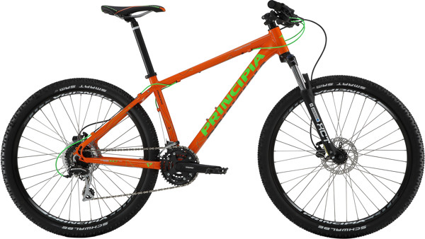 Principia EVOKE A4.7 24SP SKIVEBREMSE Orange Grøn 2017  Mountainbike