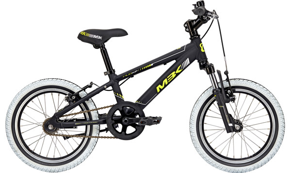 MBK MUD XP Boy WITH SUSP.  16in Mat blackyellow-grey 2018  Citybike