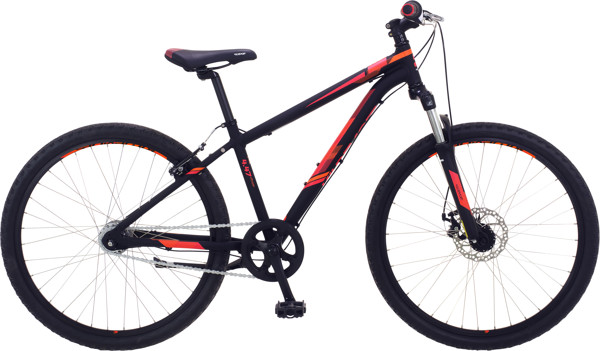 Kildemoes Intruder MTB Dreng alu Soft Black w/red 2018  Mountainbike
