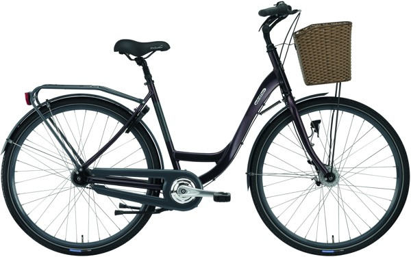 Winther 885 Dame 46cm Aubergine Navdynamo Shimano 7g 2014