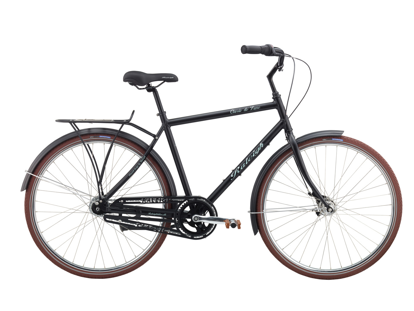 Raleigh Classic de Luxe Men 57 cm 7g Nexus Coaster Mat Black 2016 Klassisk Citybike