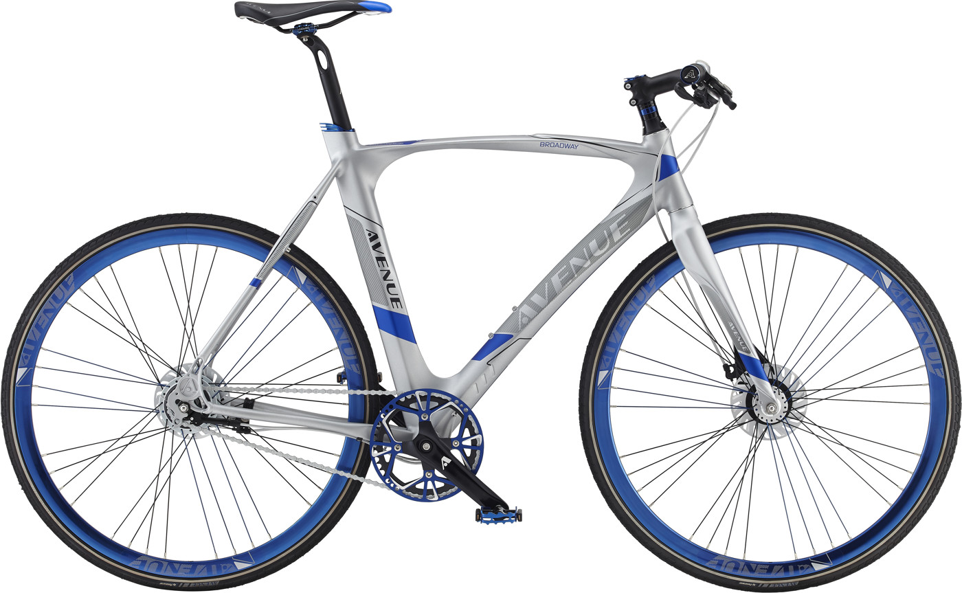 Avenue Broadway Premium Men 58 cm Nexus 8g RB Mat Silver 2016  Citybike