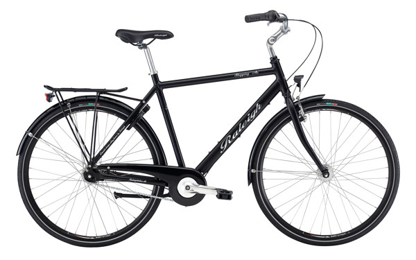 Raleigh Shopping Alu Men 52 cm 7g Nexus Mat Black 2016 Klassisk Citybike