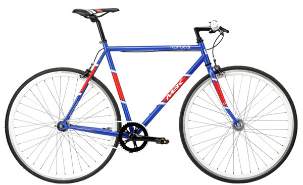 MBK Replica Fixie 700C 1g 58 cm Blue/Red 2016