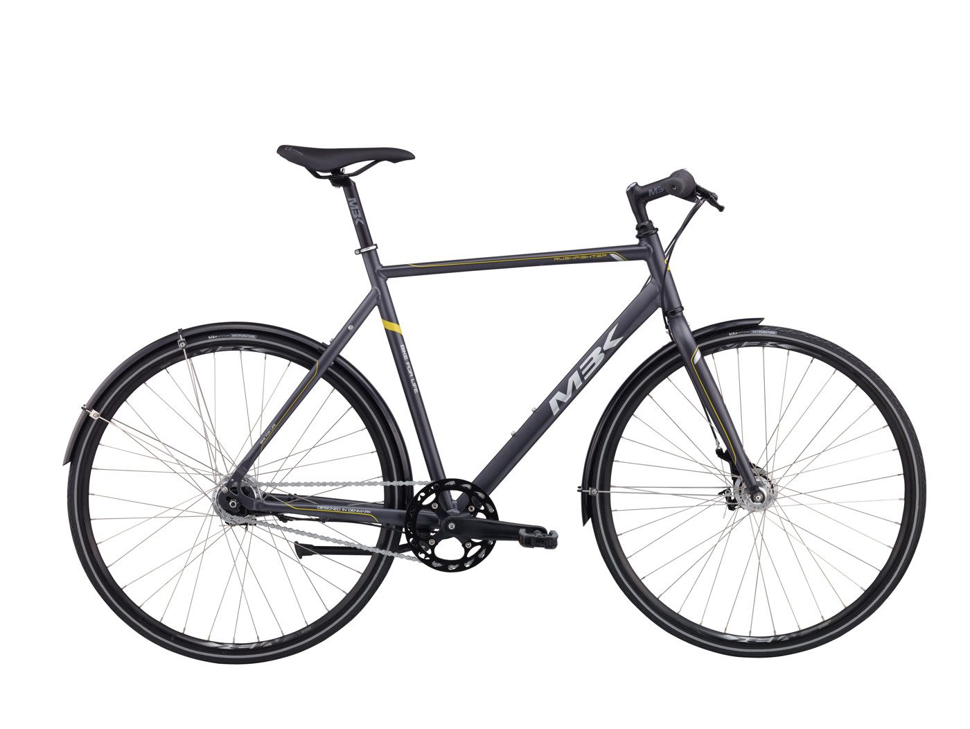 MBK Rushfighter Men 58 cm Nexus 7g RB Mat Grey/Yellow 2016 Street Citybike