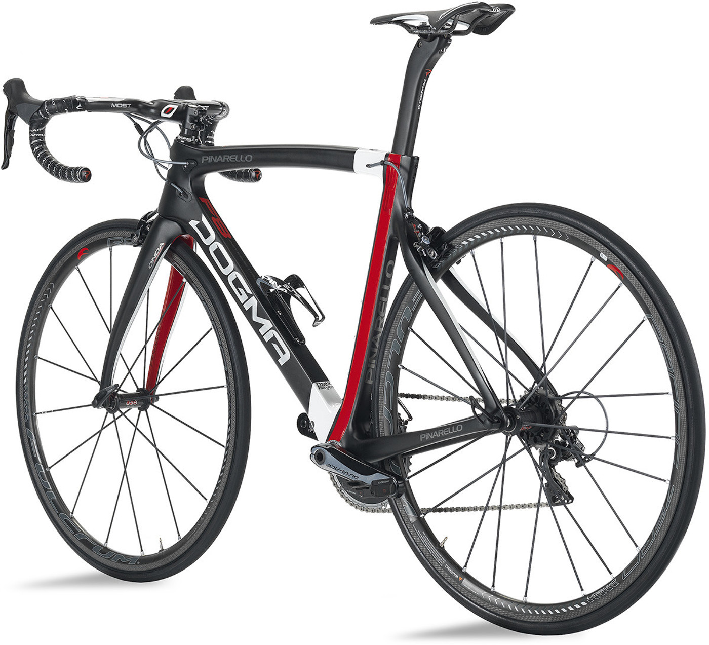 Pinarello DOGMA F8 - Carbon T11001K - 673 Carbon White Red 2016  Racercykel