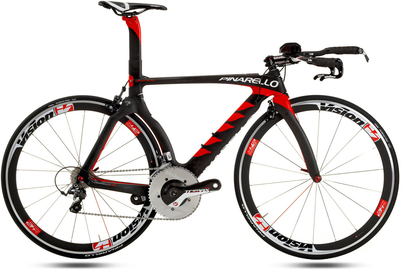 Pinarello GRAAL Triathlon - Aerospace Carbon Torayca® 30HM12K - 790 Nero Red 2016 Triatlon Racercykel