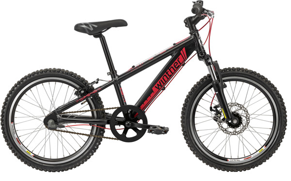 Winther 400 alu 20in 3 speed Shimano Coaster Sand blast black/Red 2016