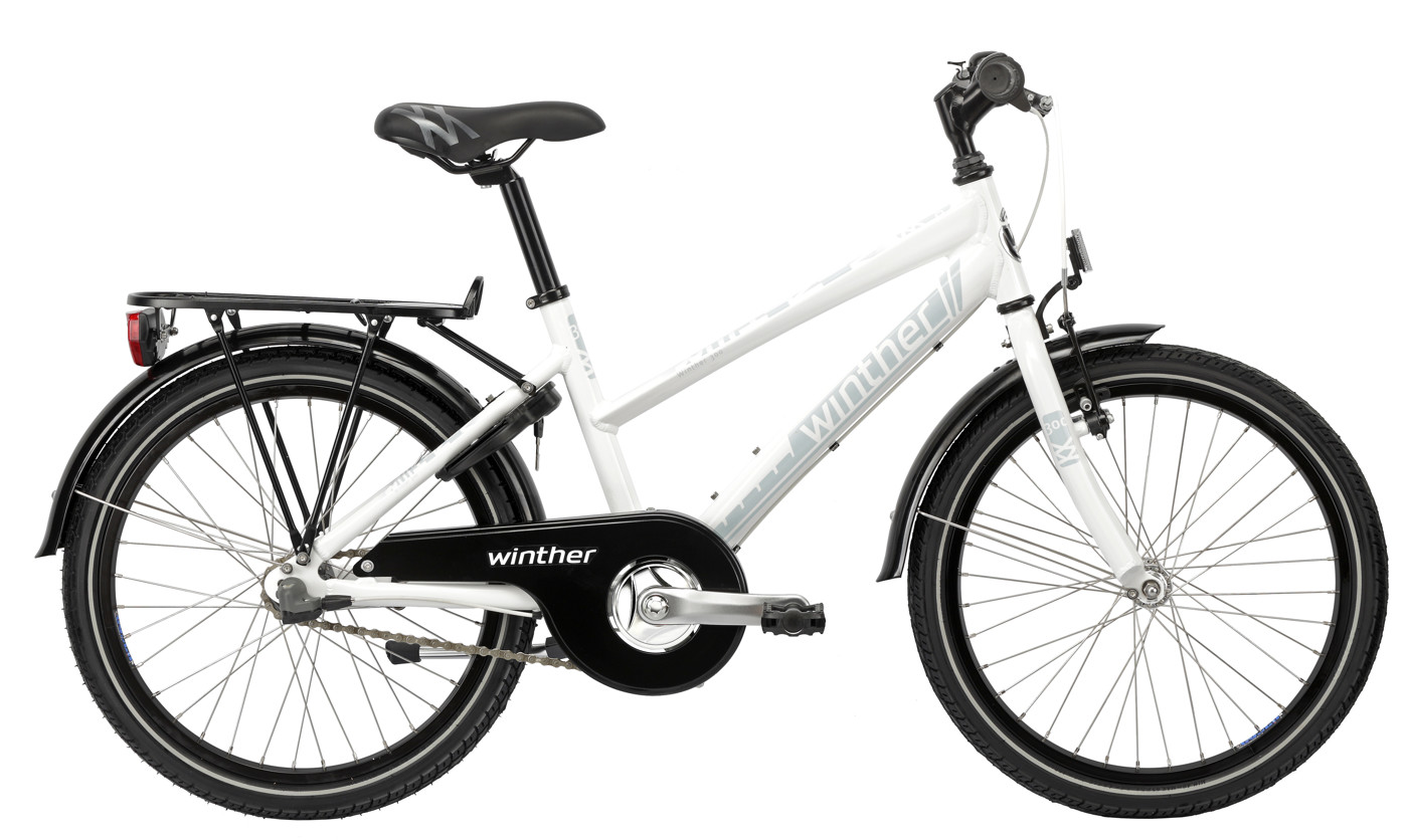 Winther 300 alu girl 20in 3 speed Shimano Coaster Shiny white/Light blue 2016  Citybike