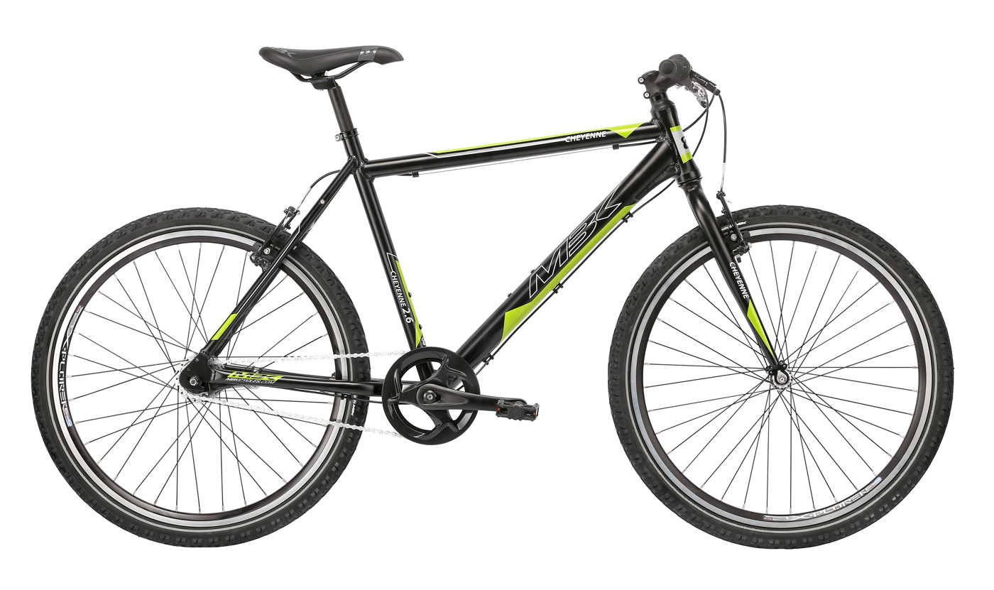 MBK CHEYENNE 26in MTB 15in Nexus 7g Coaster Mat Black/Grey/Green 2016 Street Citybike