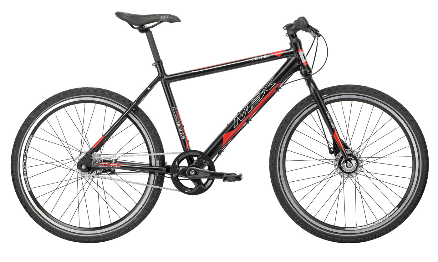 MBK CHEYENNE 26in MTB 21in Nexus 7g RB Mat Black/Grey/Red 2016 Street Citybike