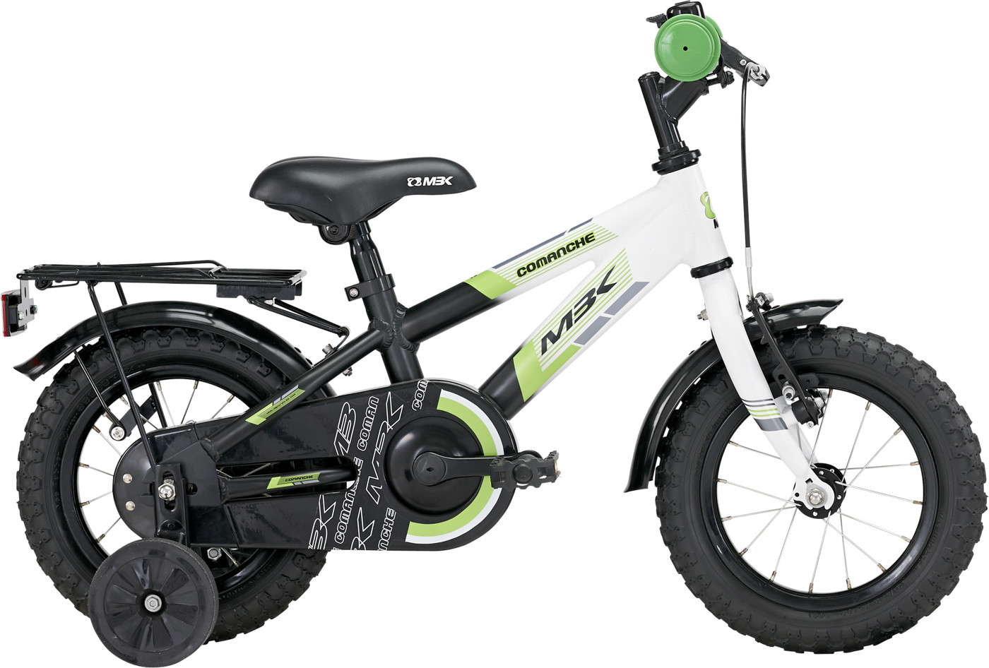 MBK Comanche 12in Mat Black/Green/White 2015  Citybike