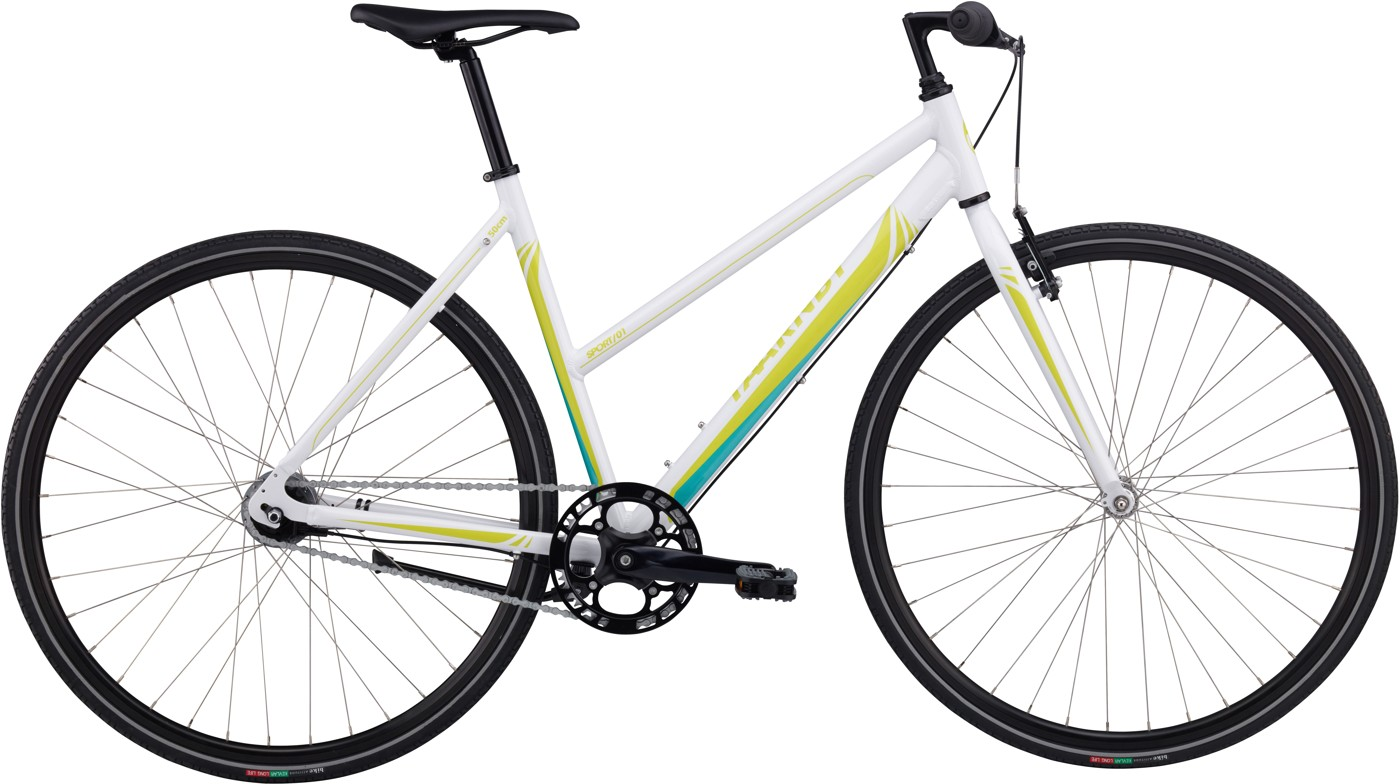 Taarnby Sport Lady 01 50 cm 7sp Shimano coaster Shiny white/Yellow green  Citybike
