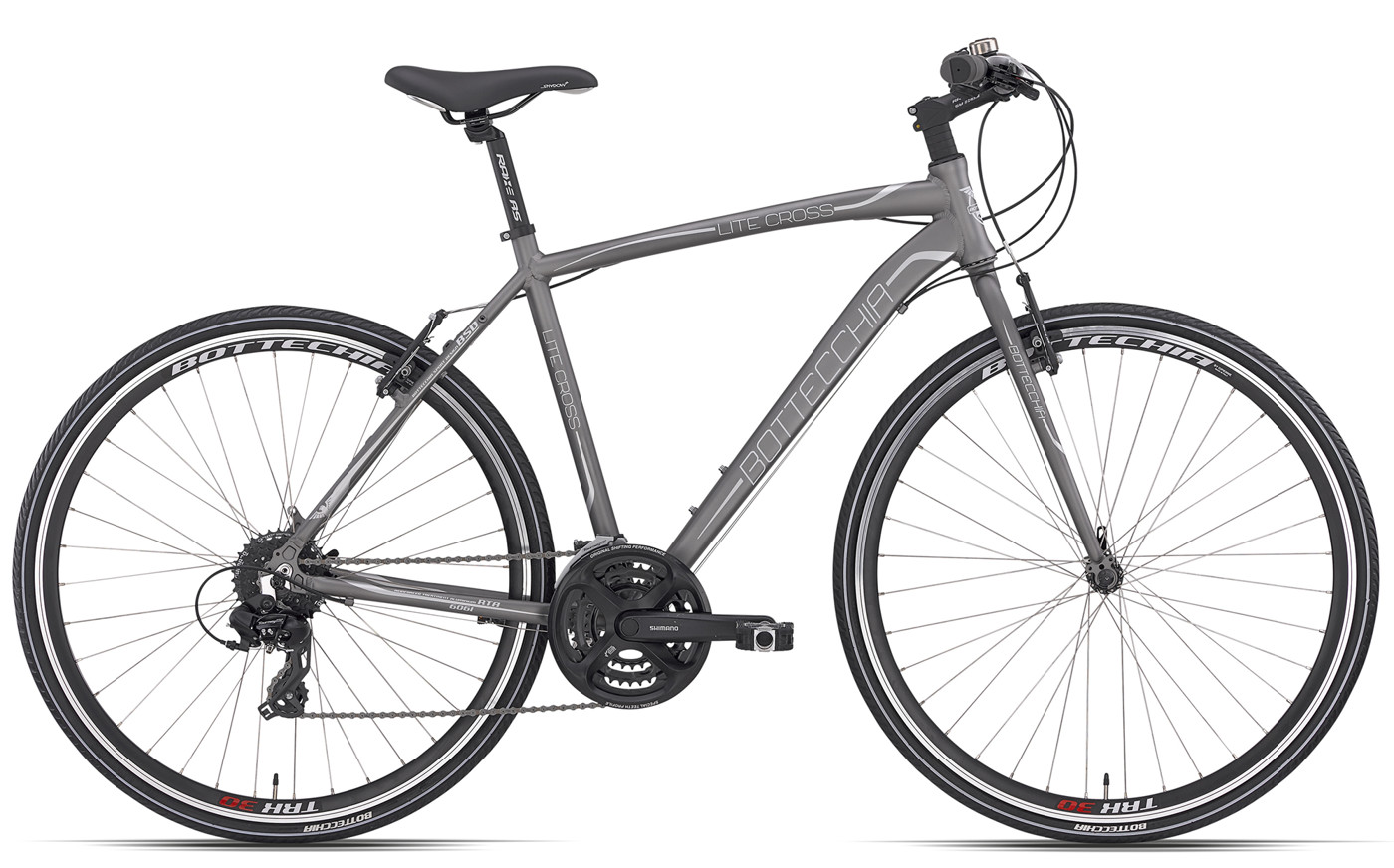 Bottecchia LITE CROSS GENT  24 SPEED  52  GREY MAT 2016 Cyclocross Citybike