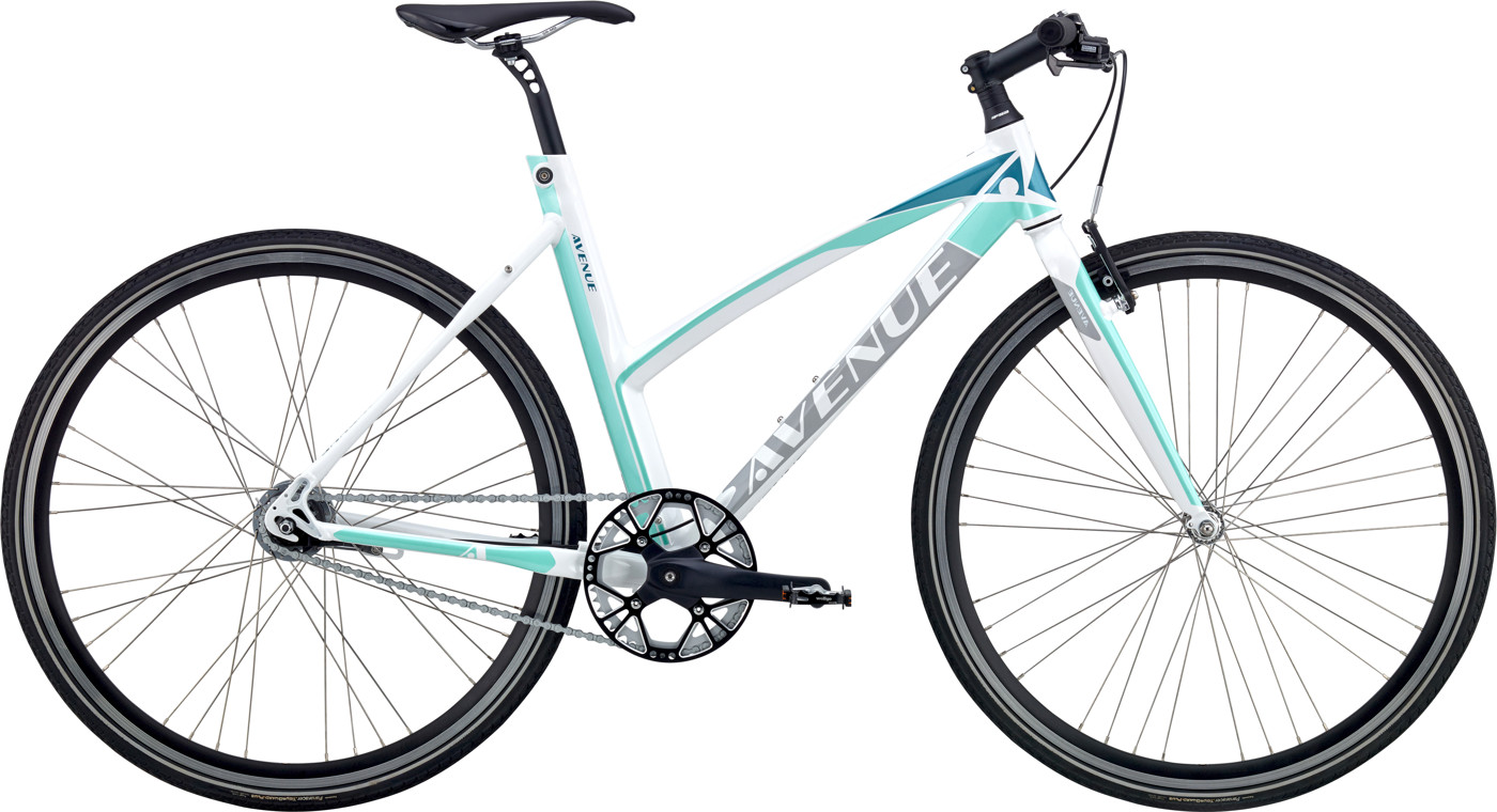 Avenue BROADWAY ZERO DAME 7 GEAR FODBREMSE White Silver/blue/turquoise 2017 Street Citybike