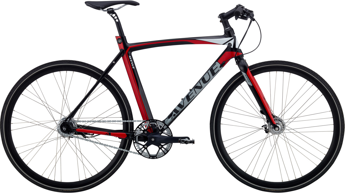 Avenue BROADWAY ZERO HERRE 7 GEAR RULLEBREMSE Black Silver/red/white 2017 Street Citybike