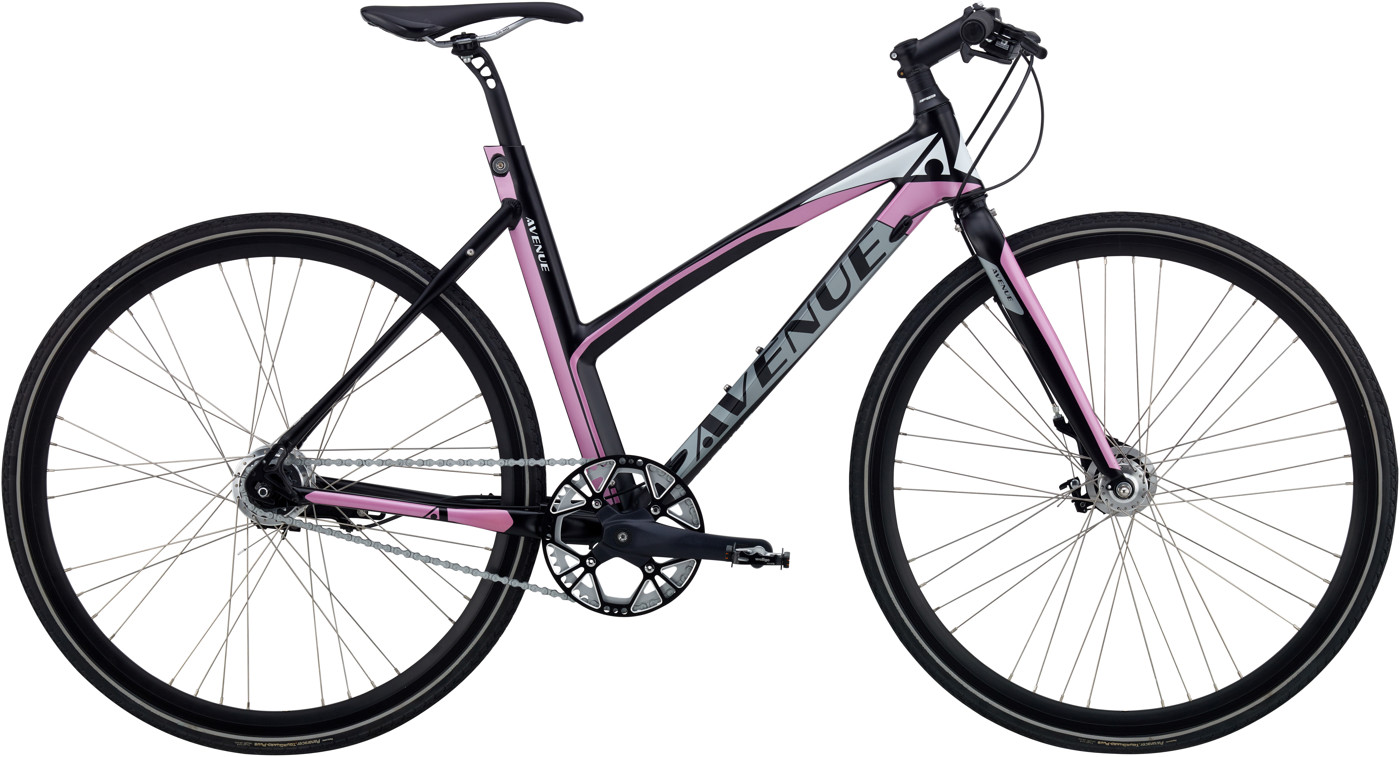 Avenue BROADWAY ZERO DAME 7 GEAR RULLEBREMSE Black Silver/pink 2017 Street Citybike