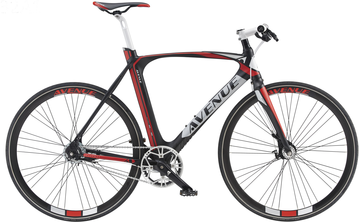 Avenue BROADWAY PREMIUM HERRE 8 GEAR RULLEBREMSE Matt black Red/white 2017 Street Citybike