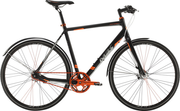 MBK CONCEPT 6SIX HERRE 7 GEAR RULLEBREMSE Mat sort Orange/sølv 2017
