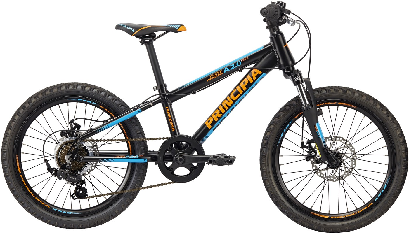 Principia EVOKE A2.0 6SP SKIVEBREMSE Sort Orange /blå 2017  Mountainbike