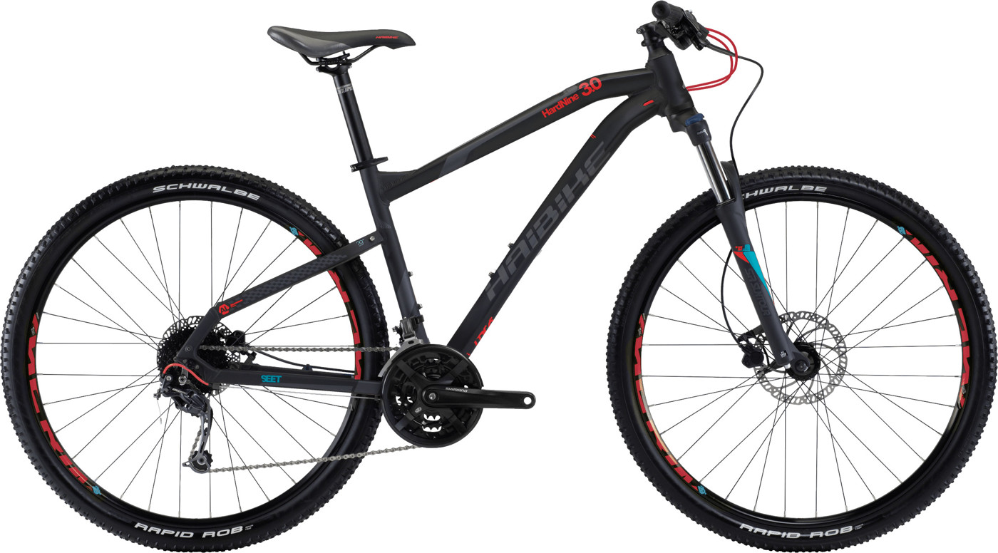 Haibike Seet Hardnine 30 Black 2017 All mountain Mountainbike