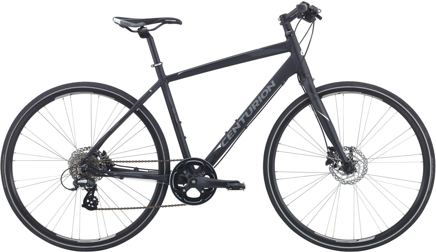 Centurion Basic Fitness Herre 8sp Hydr. disc 23.5in Mat sort 2018  Citybike