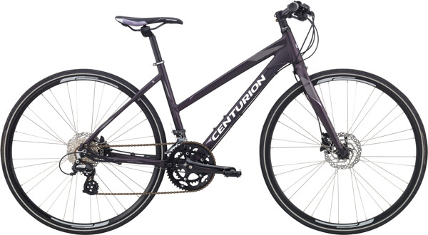 Centurion Basic Fitness Dame 16sp Hydr. disc 17.5in Mørk sort purple 2018